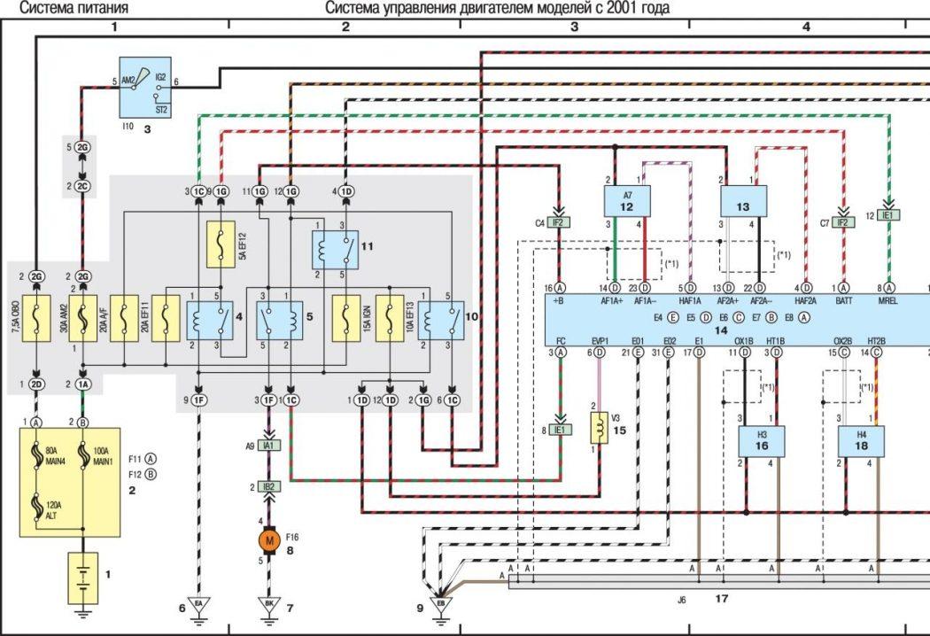 Система управления двигателем моделей с 2001 года (часть 1-я из 3)