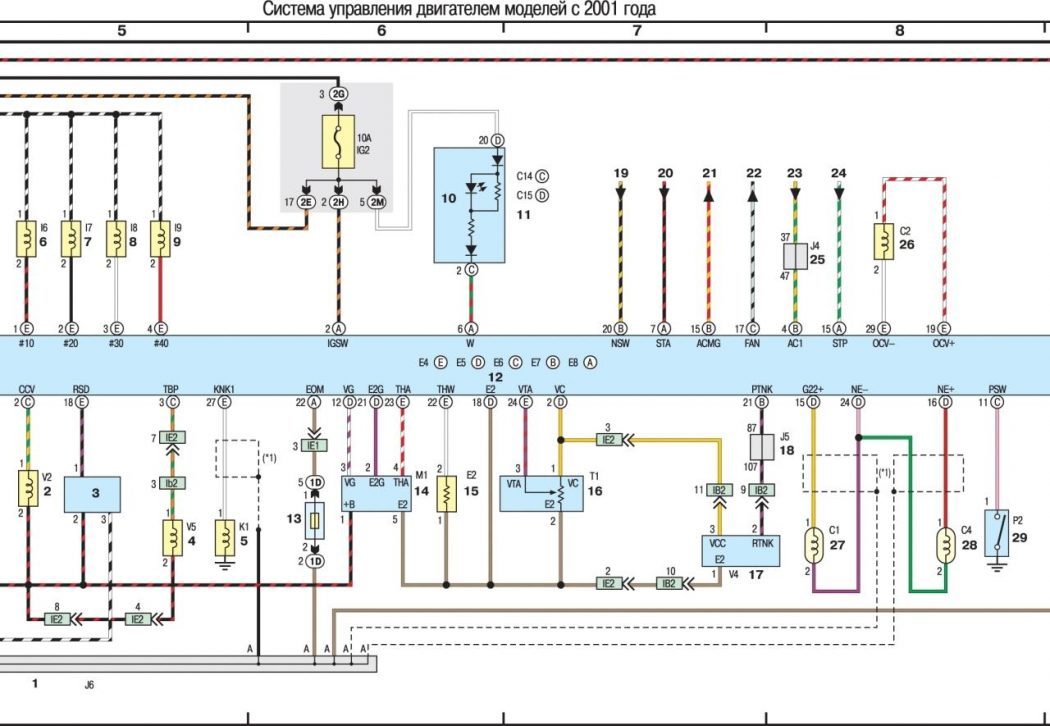 Система управления двигателем моделей с 2001 года (часть 2-я из 3)