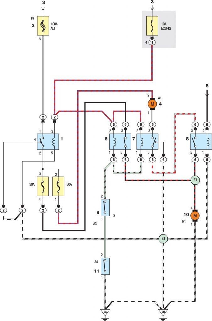 Вентилятор радиатора системы охлаждения моделей до 2001 года