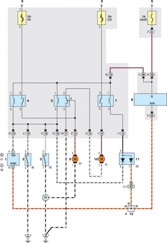 Вентилятор радиатора системы охлаждения моделей с 2001 года
